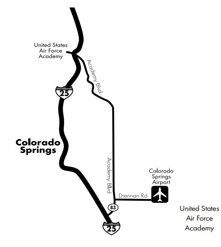 The United States Air Force Academy Traveling To The Air Force - Air force academy map